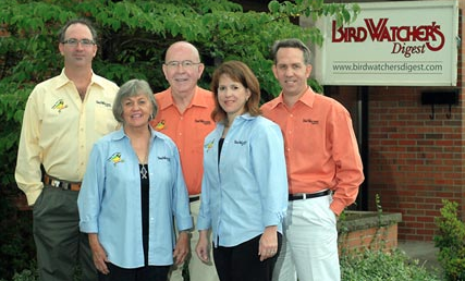 The Thompson family poses outside the BWD headquarters. From left: Bill Thompson, III, Elsa Thompson, Bill Thompson, Jr., Laura Thompson, and Andy Thompson.